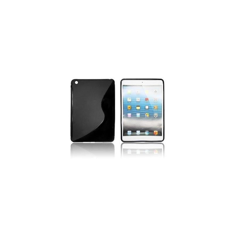 coque silicone s pour ipad mini couleur noir housse silicone noir ipad mini. Black Bedroom Furniture Sets. Home Design Ideas