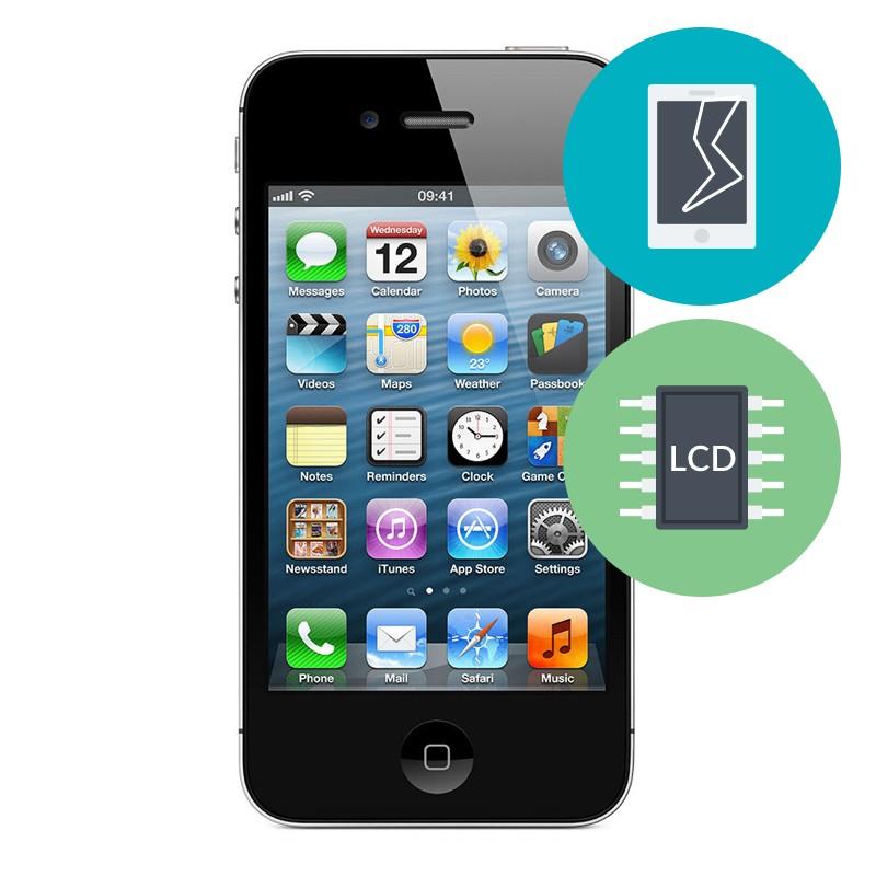 R paration ecran vitre avant et arri re iphone 4 for Photo ecran iphone 4