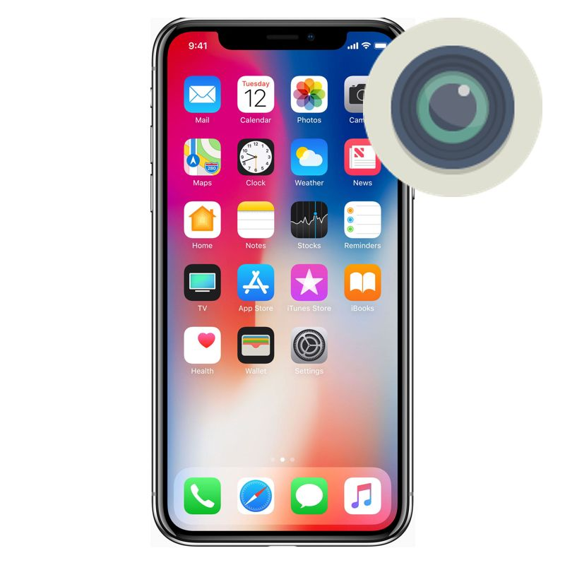 the best attitude f5086 06486 iPhone X Camera Lens Replacement